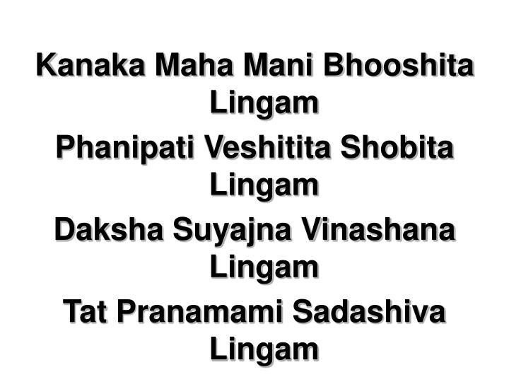 Kanaka Maha Mani Bhooshita Lingam