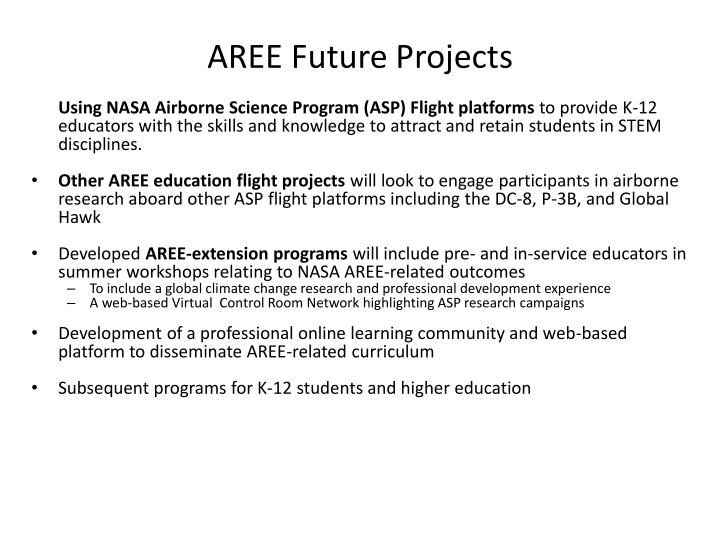 AREE Future Projects
