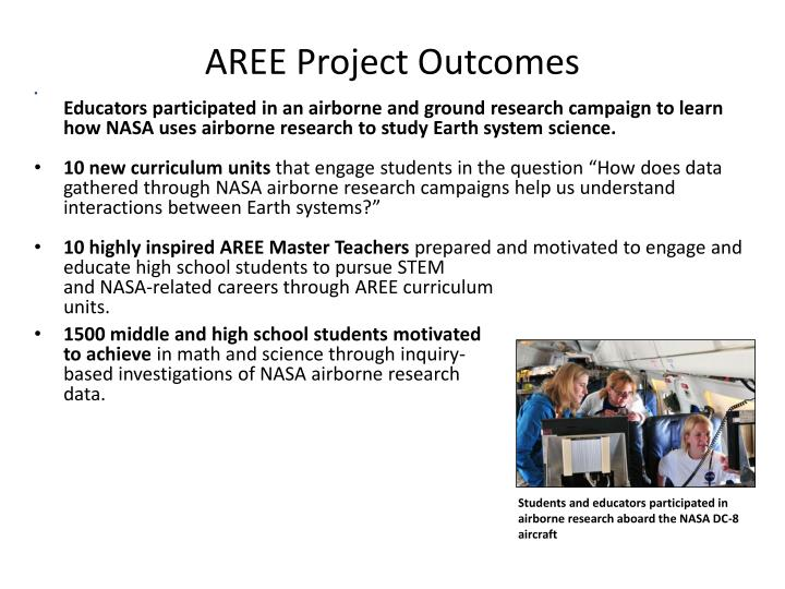 AREE Project Outcomes