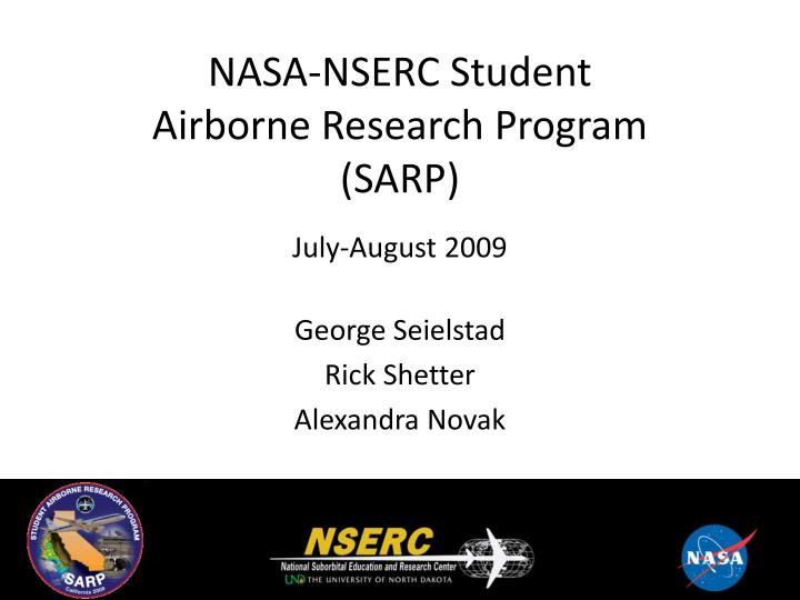 NASA-NSERC Student