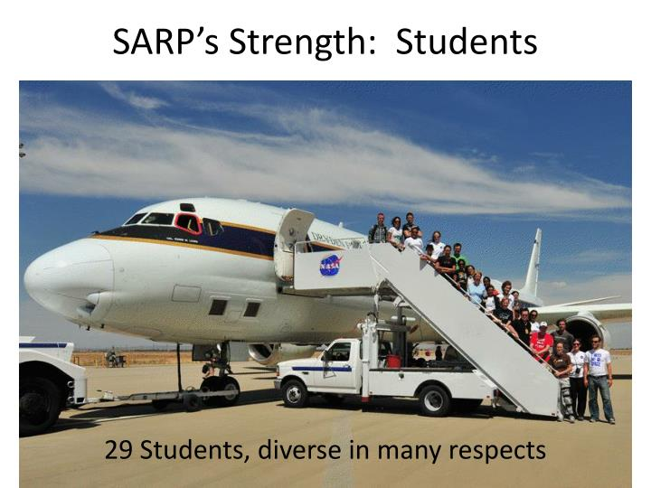 SARP's Strength:  Students