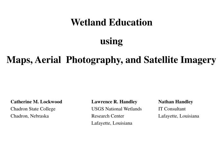 Wetland Education