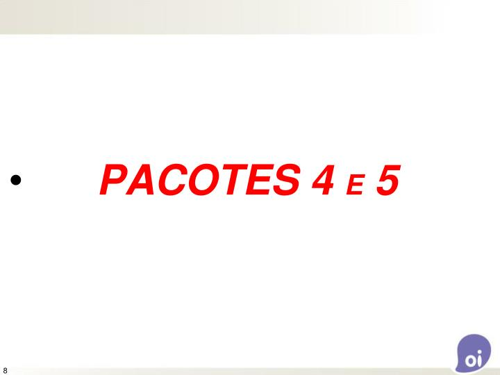 PACOTES 4