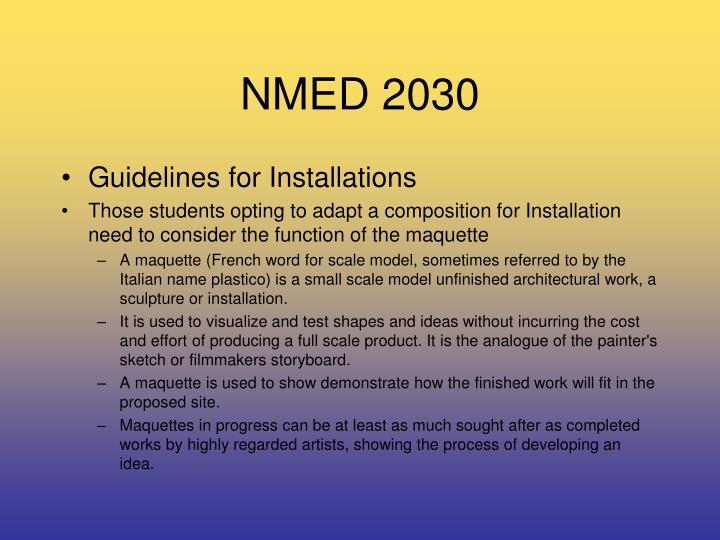 NMED 2030