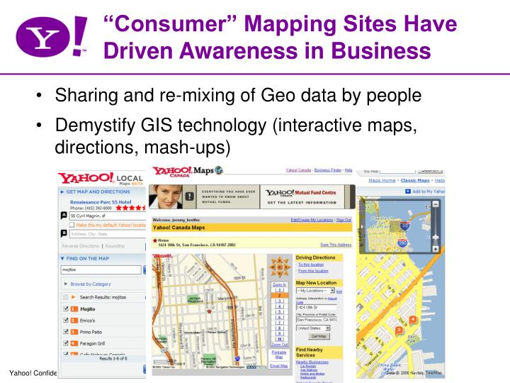 Consumer mapping sites have driven awareness in business
