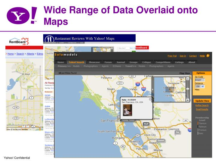 Wide Range of Data Overlaid onto Maps