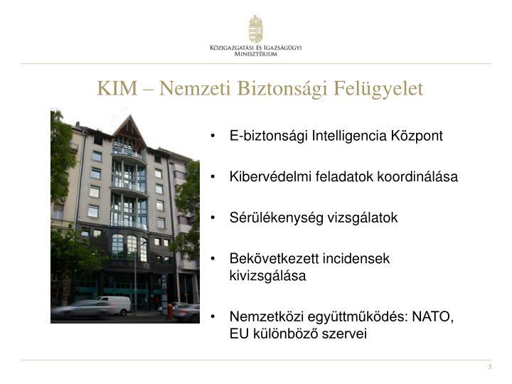 KIM – Nemzeti Biztonsági Felügyelet