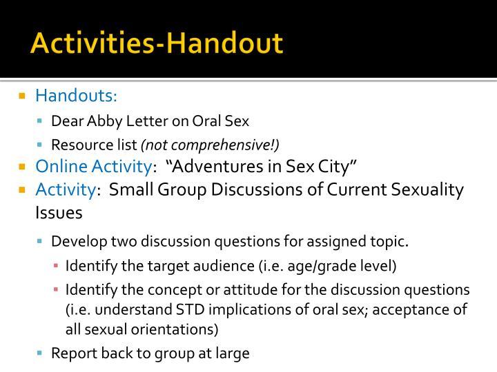 Activities-Handout