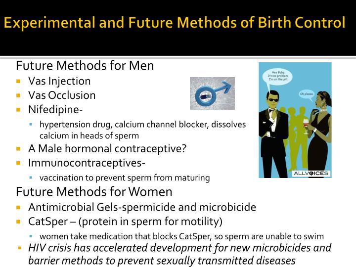 Experimental and Future Methods of Birth Control