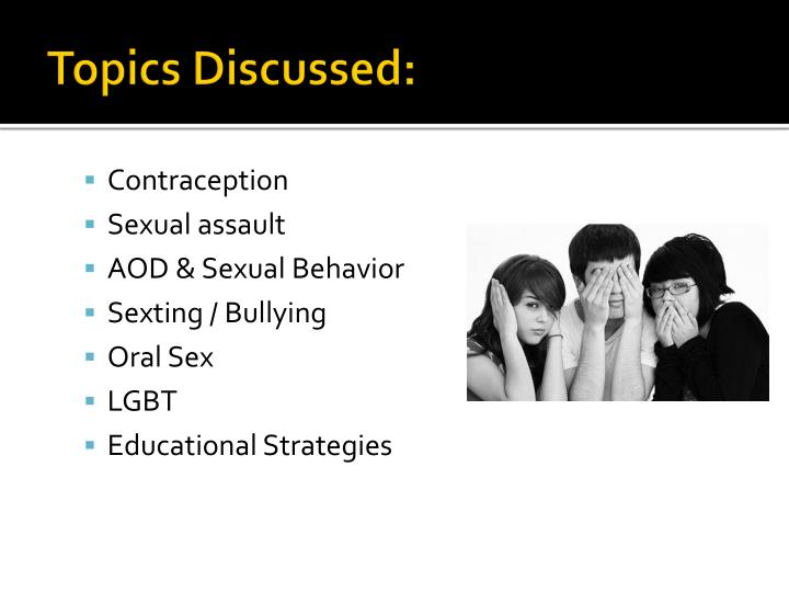 Topics Discussed: