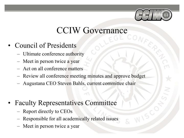 CCIW Governance