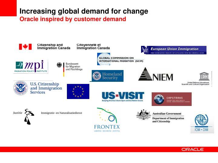 Increasing global demand for change
