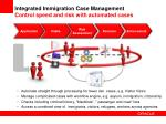 integrated immigration case management control speed and risk with automated cases