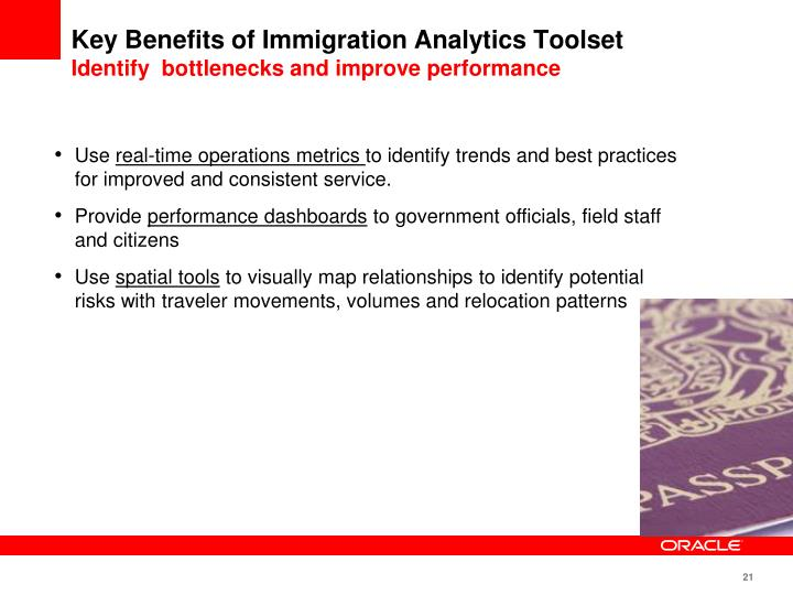 Key Benefits of Immigration Analytics Toolset