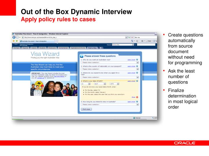 Out of the Box Dynamic Interview