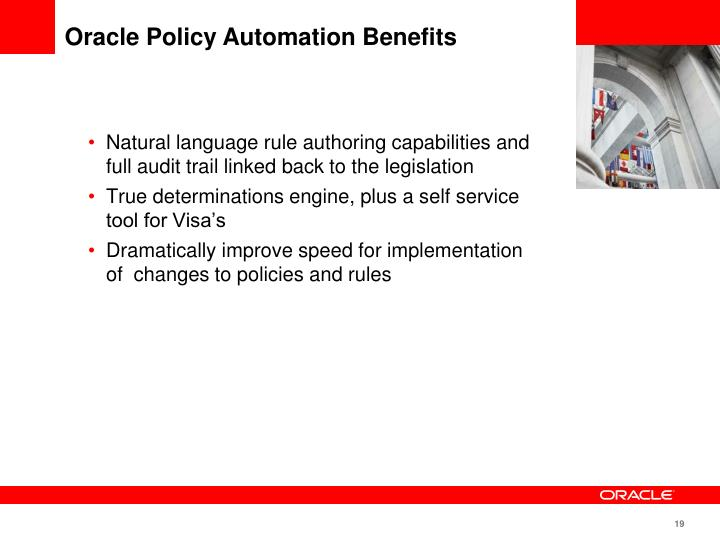 Oracle Policy Automation Benefits