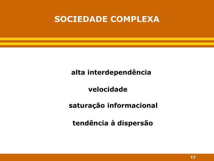 SOCIEDADE COMPLEXA