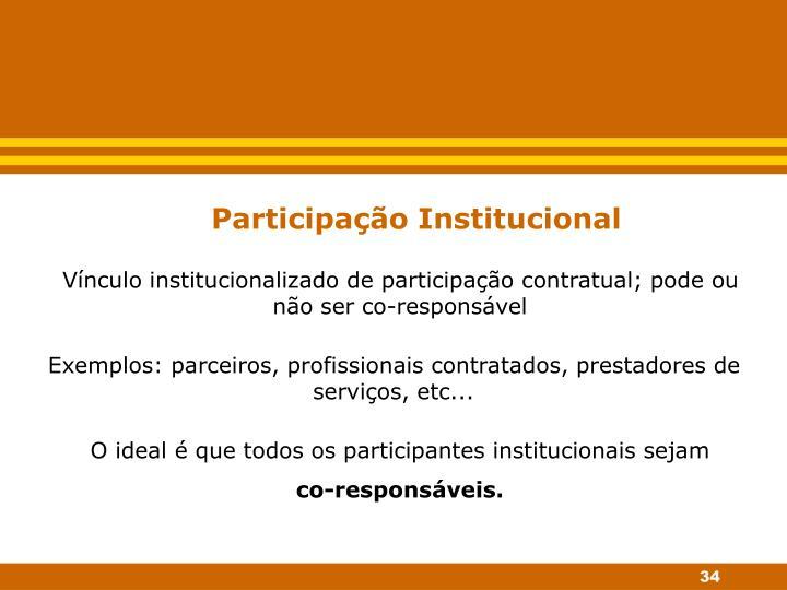 Participação Institucional