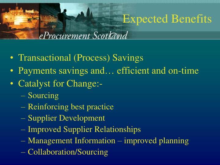 Transactional (Process) Savings