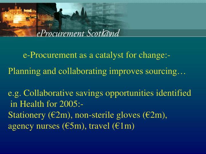 e-Procurement as a catalyst for change:-