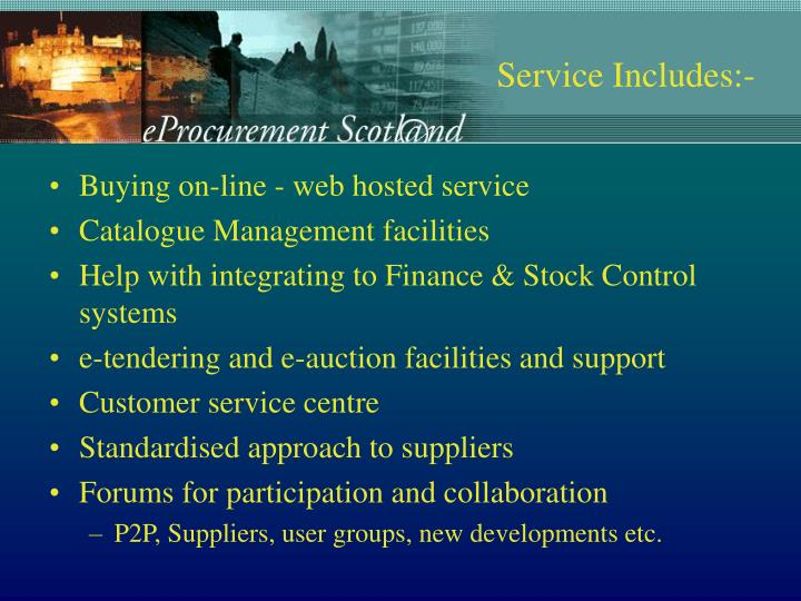 Buying on-line - web hosted service