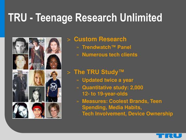 TRU - Teenage Research Unlimited