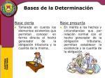 bases de la determinaci n1