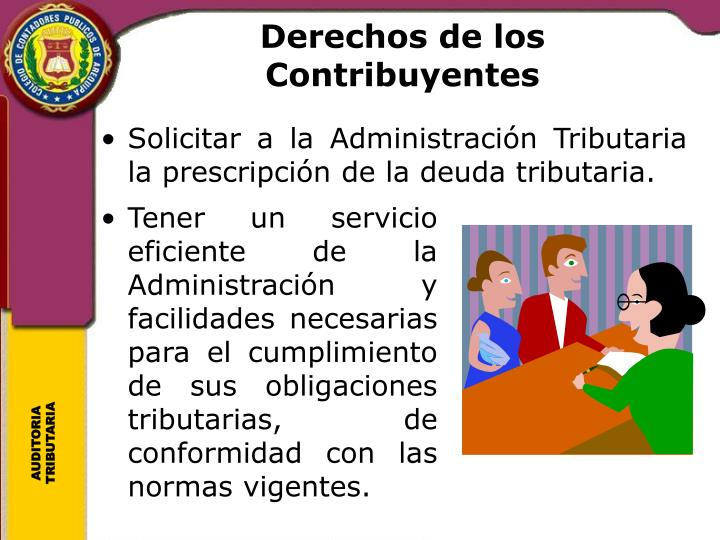Derechos de los Contribuyentes