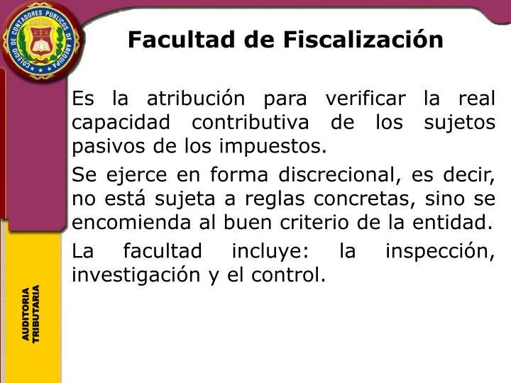 Facultad de Fiscalización