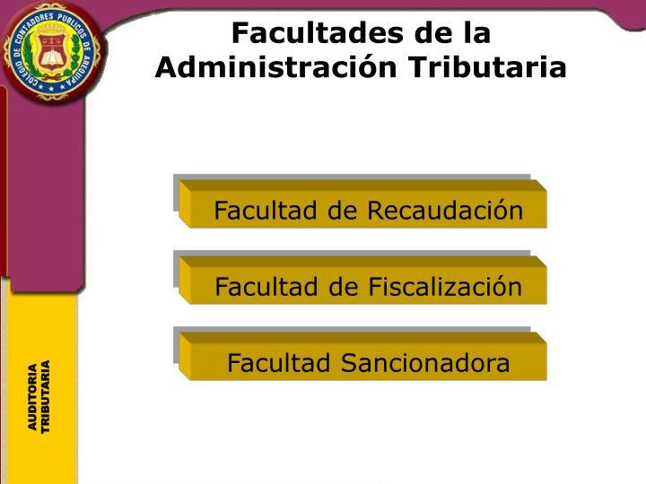 Facultades de la Administraci