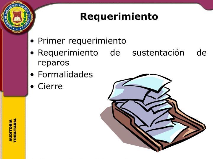 Requerimiento