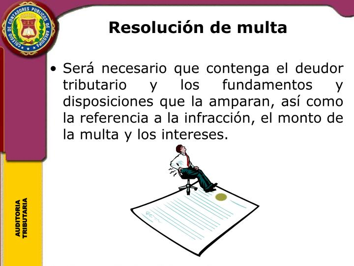 Resolución de multa