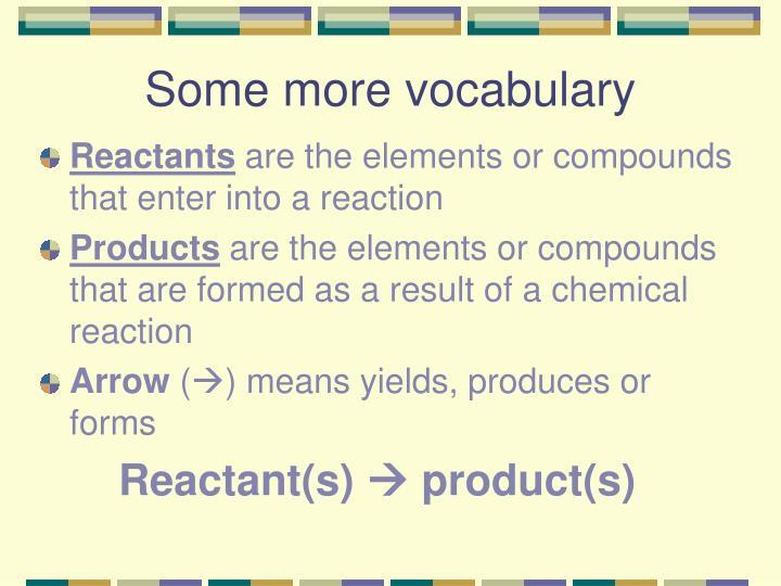 Some more vocabulary