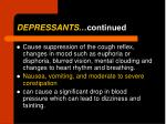 depressants continued