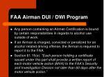 faa airman dui dwi program