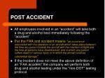post accident