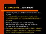 stimulants continued