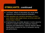 stimulants continued1