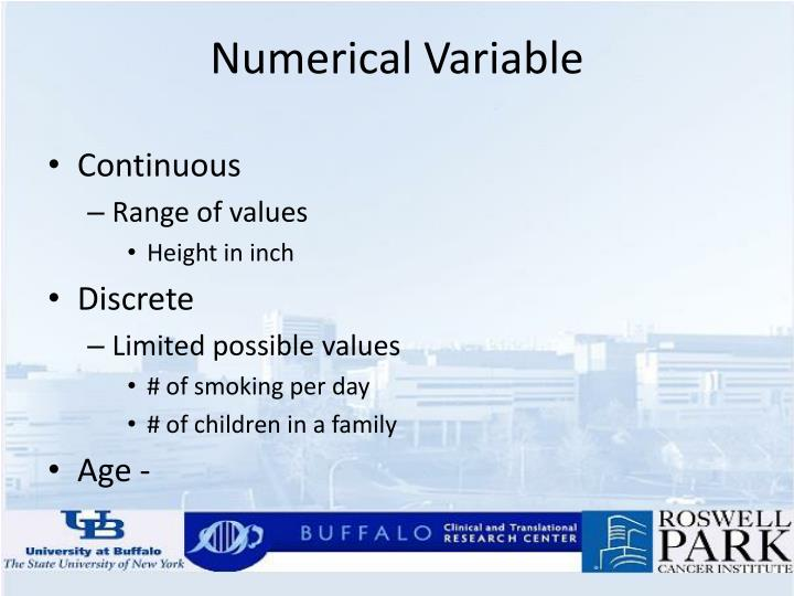 Numerical Variable