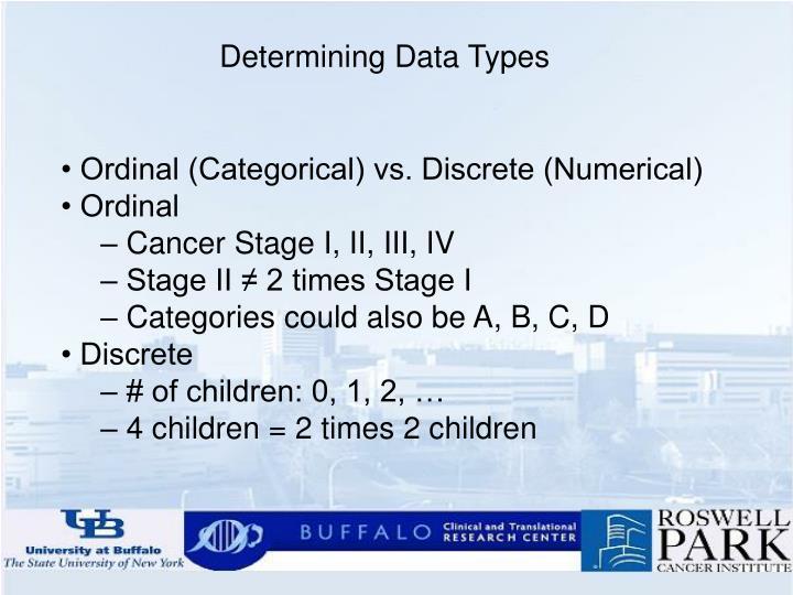 Determining Data Types