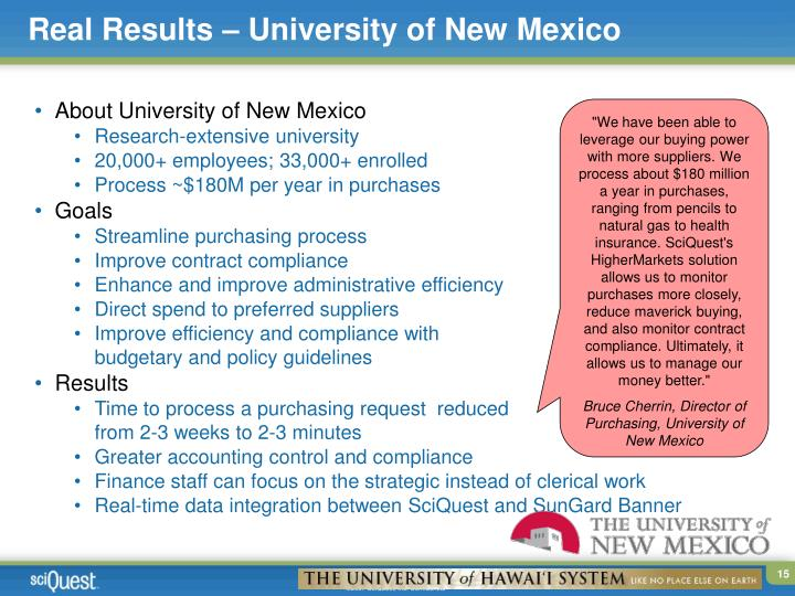 Real Results – University of New Mexico
