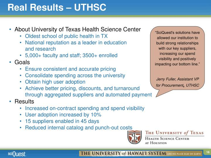 Real Results – UTHSC