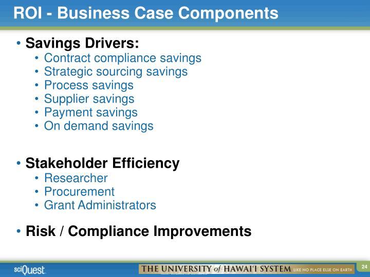 ROI - Business Case Components