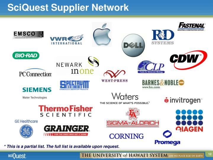 SciQuest Supplier Network