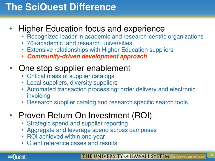 The SciQuest Difference