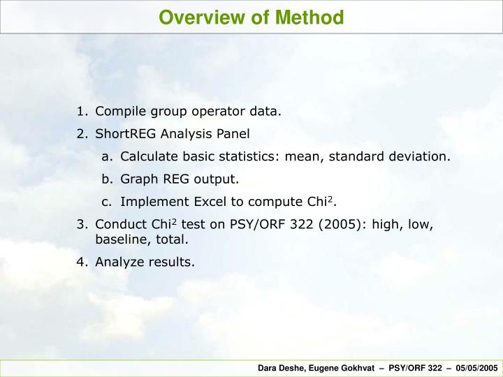 Overview of Method