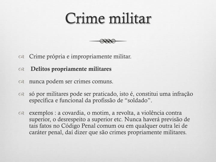 Crime militar