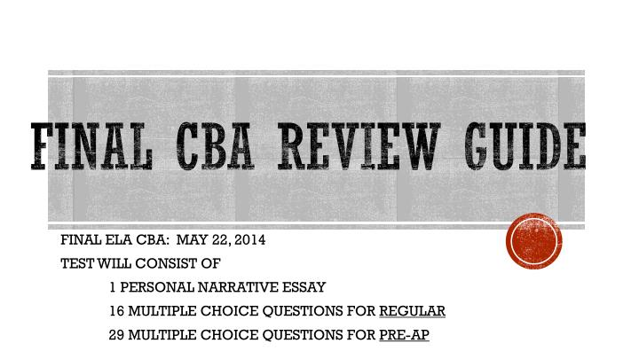 Final cba review guide