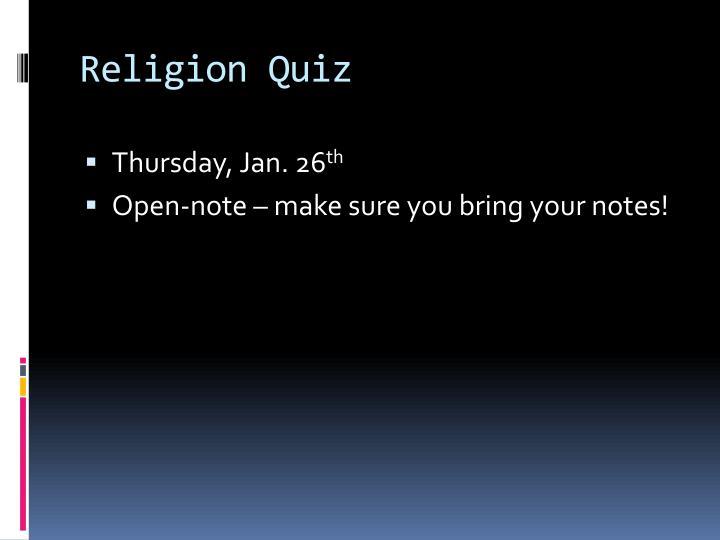 Religion Quiz