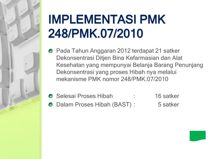 IMPLEMENTASI PMK
